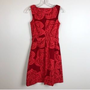 Anthropologie Dresses - Anthropologie red and orange Tabitha lotus dress